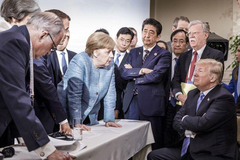 """Le G7, organisé à Charlevoix, au Canada, a davantage ressemblé à un """"G6 +1"""""""