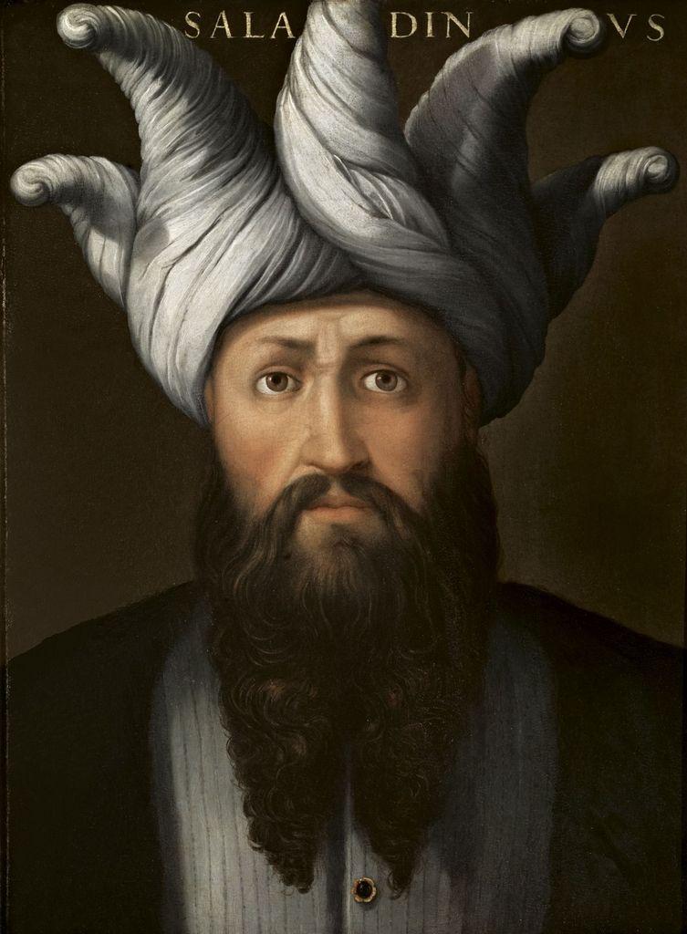 Portrait de Saladin (1138 - 1193) par Cristofano dell'Altissimo (1525 - 1605), vers 1552-1558