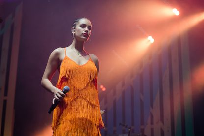 La chanteuse, Jorja Smith au We Love Green Festival le 2 juin 2018 à Paris.