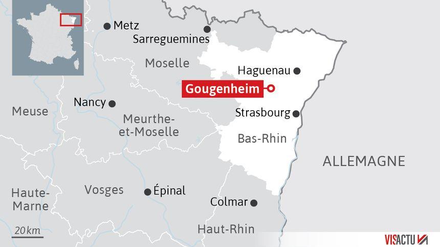 Gougenheim, à une trentaine de kilomètres de Strasbourg.