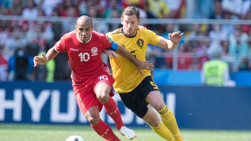 Wahbi Khazri avec la Tunisie contre la Belgique en Russie.