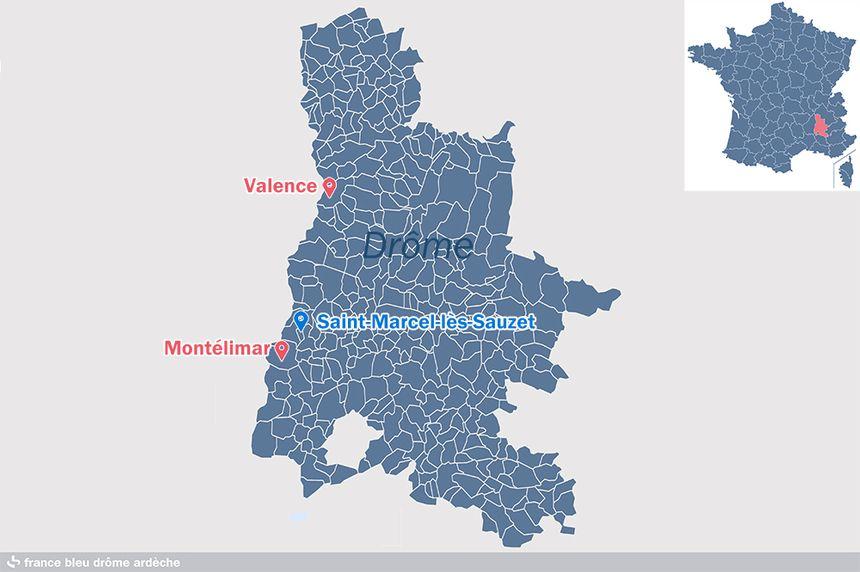La commune de Saint-Marcel-lès-Sauzet dans la Drôme.
