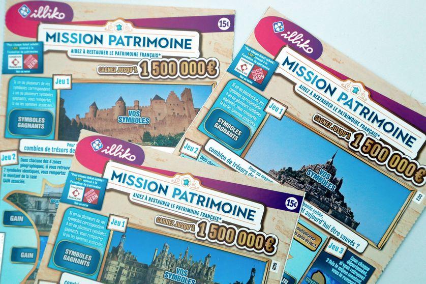 Tickets A Gratter Mission Patrimoine Qui Seront Mis En Vente A Partir Du