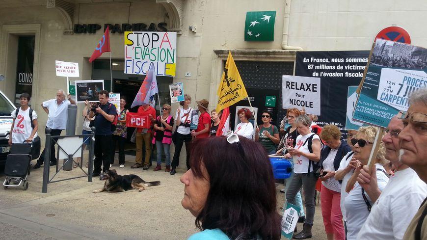 Une manifestation de soutien à Nicole Briend avait été organisée