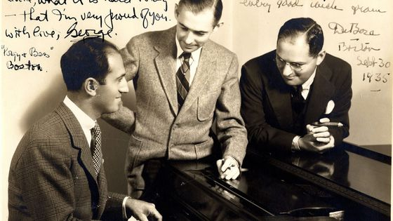 George Gershwin, DuBose Heyward, & Ira Gershwin, Boston, September 30, 1935