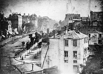 Boulevard du Temple, Paris, 1838