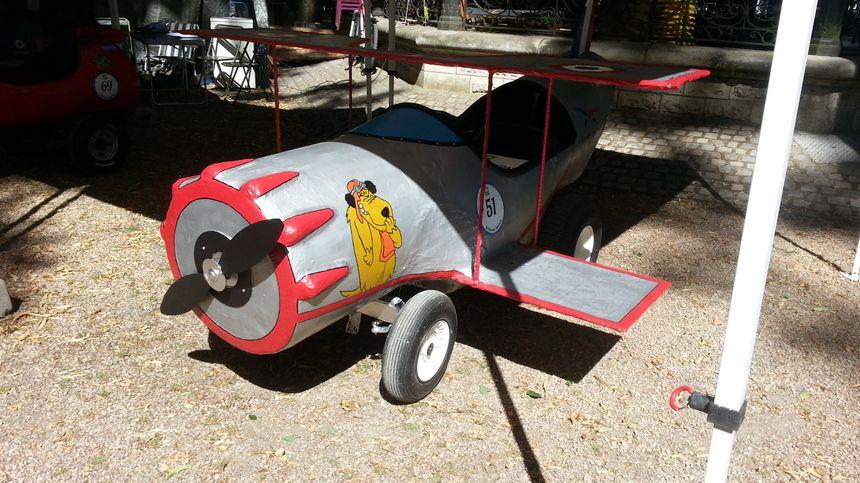 L'avion de Diabolo et Satanas, l'une des trois caisses à savon présentées par la base aérienne d'Avord
