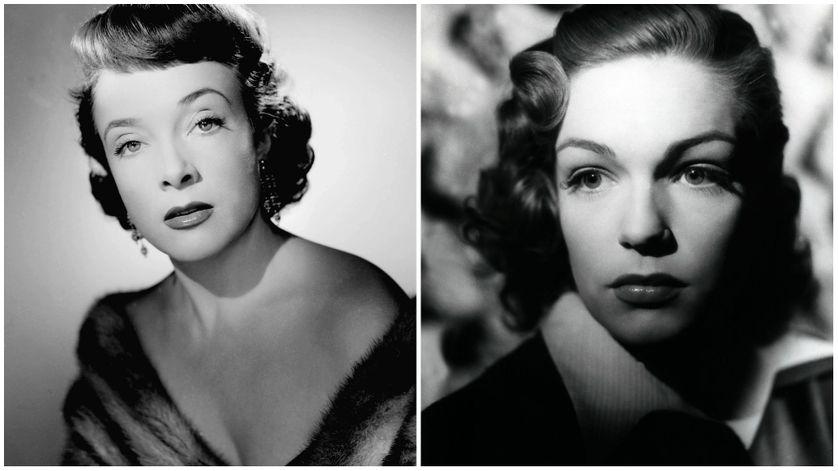 Micheline Presle, studio Harcourt 1950 et Simone Signoret en 1946 lors du film Macadam