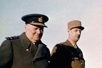 Winston Churchill et le général De Gaulle en 1944