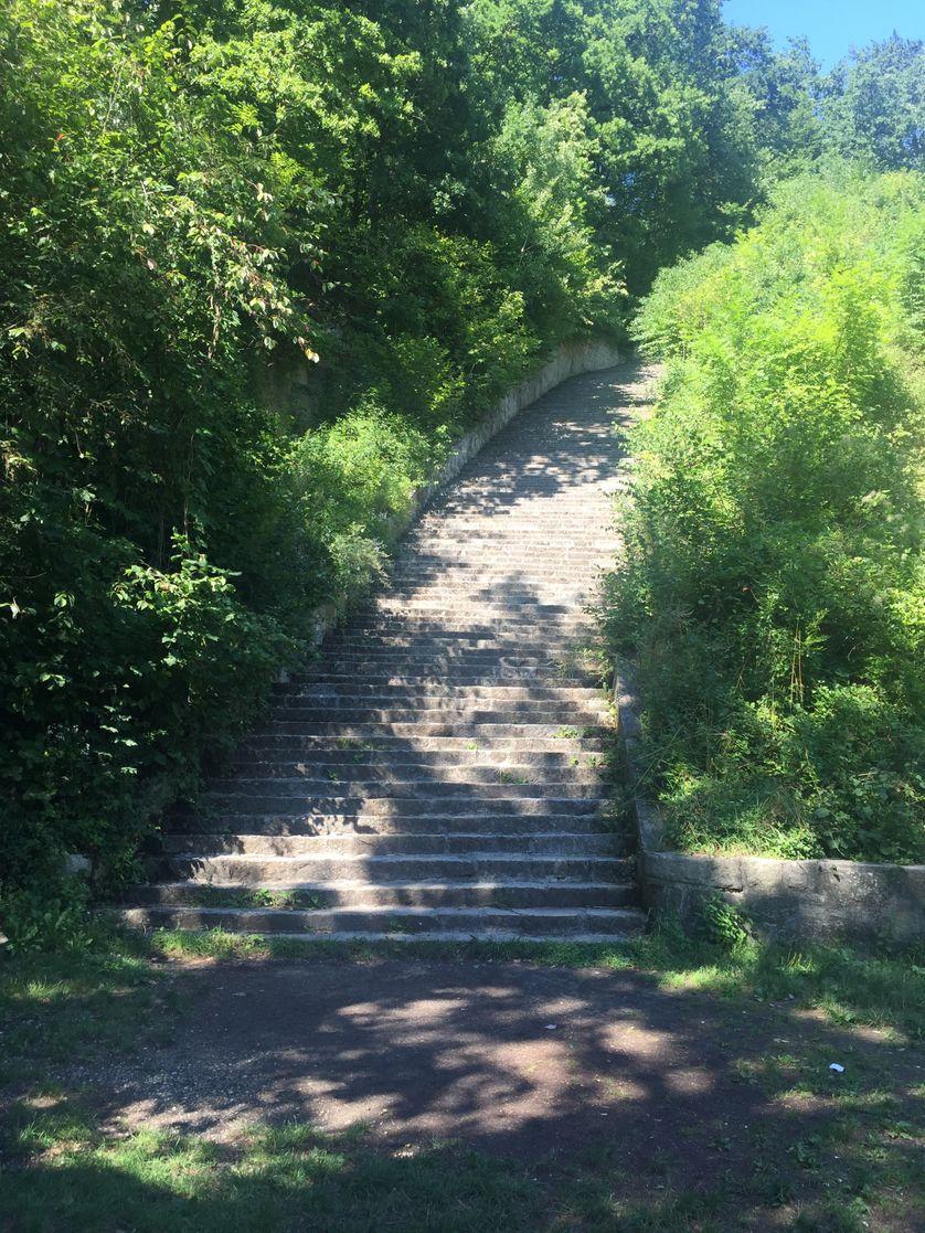 L'escalier de la mort de Mauthausen