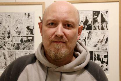 Manu Larcenet à la Galerie Barbier Mathon et Mathon à Paris en juin 2018