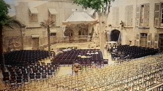 Cour de l'Archevêché / Festival  Aix en Provence 1948 avec l'aimable autorisation de Jean-Eric Ely