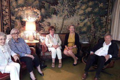 Marie-Françoise Fuchs, Paule Giron, Martine Gruher, Marie-Paule Debray et Philippe Gutton de l'association Old Up.
