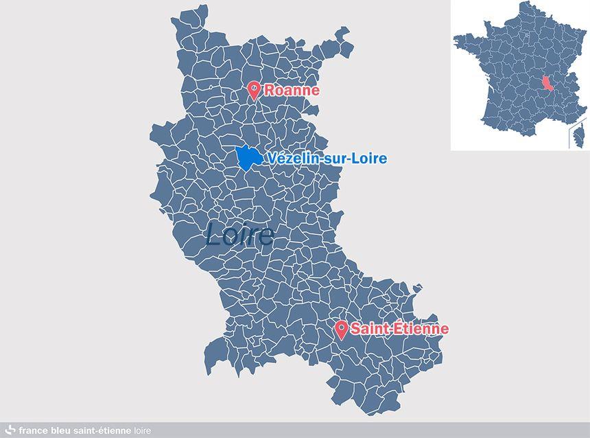 La nouvelle commune est située au sud du Roannais.
