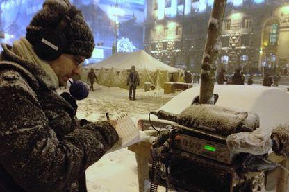 Yann Gallic, grand reporteur à France Inter, en reportage à Kiev, en Ukraine