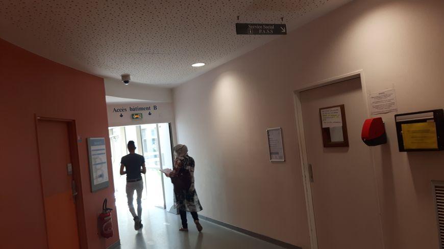 Le service social de l'hôpital Delafontaine, à Saint-Denis