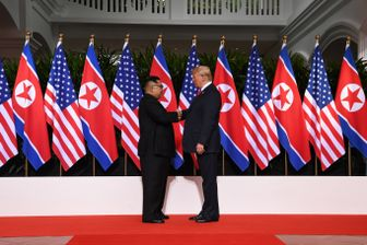 La poignée de main historique entre Kim Jong-Un et Donald Trump
