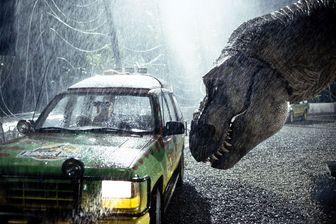 Une scène du film «  Jurassic Park » réalisé par Steven Spielberg en 1993