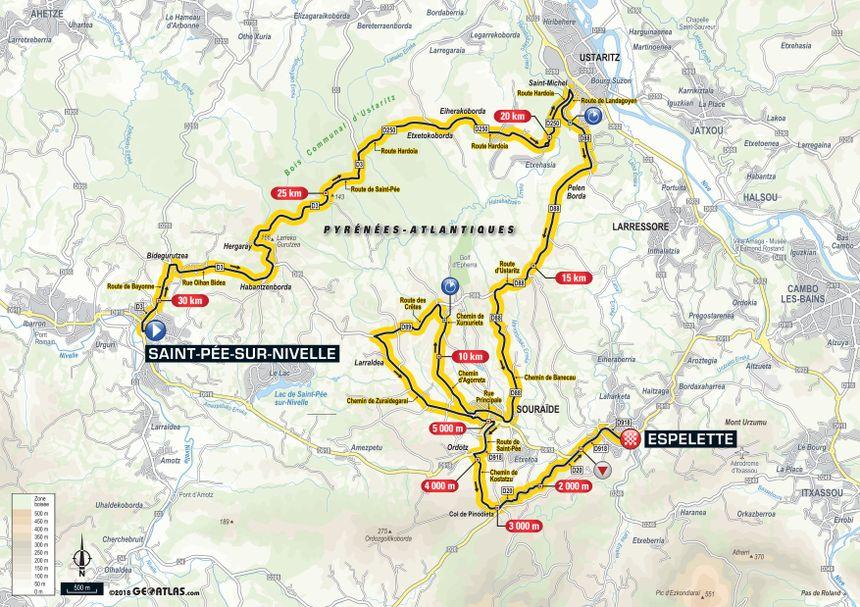 Tour de France 2018 : le parcours de la 20e étape entre Saint-Pée-sur-Nivelle et Espelette