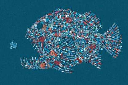 Les déchets de plastique envahissent les mers et les océans. Il existe 5 vortex où s'accumulent les plastiques. Celui qui se trouve dans le Pacifique occupe une zone qui équivaut à trois fois la France métropolitaine.