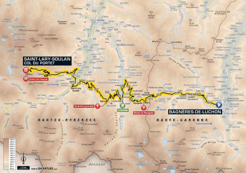 Tour de France 2018 : le parcours de la 17e étape entre Bagnères-de-Luchon et Saint-Lary-Soulan