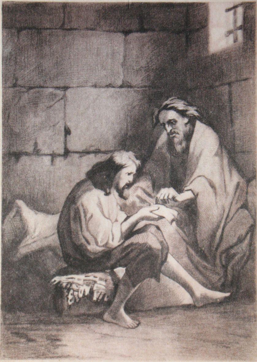 L'abbé Faria transmet son savoir à Edmond Dantès