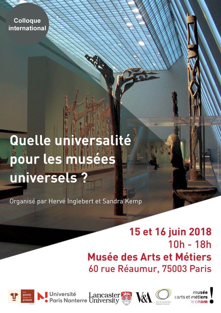 Quelle universalité pour les musées universels ? - Affiche du colloque