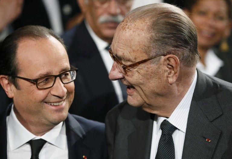 François Hollande et Jacques Chirac, le 21 novembre 2014.