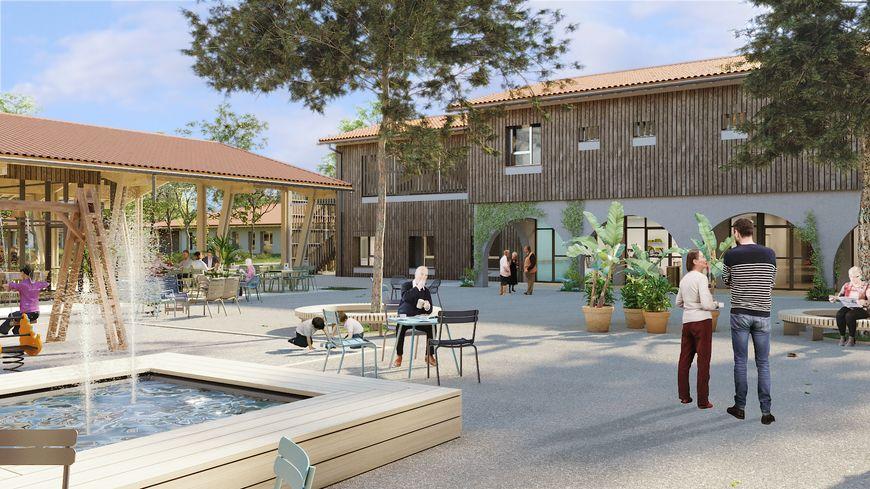 La place centrale du futur Village Landais Alzheimer