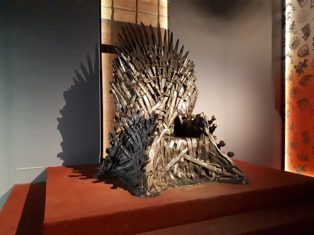 """Le célèbre """"Trône de fer"""" de la série télévisée Game of Thrones"""