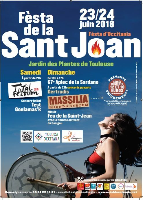 Affiche Fèsta Sant Joan, Fèsta d'Occitania