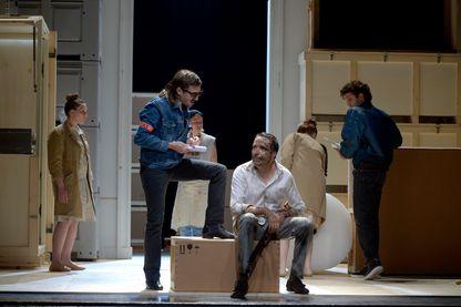 """Photo de """"L'Avare"""" de Molière, mise en scène de Ludovic Lagarde"""