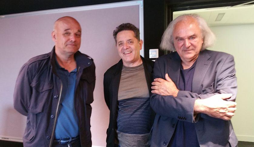 Philippe Dagen, Jean de Loisy et Alain Fleischer (de gauche à droite) le mardi 5 juin 2018