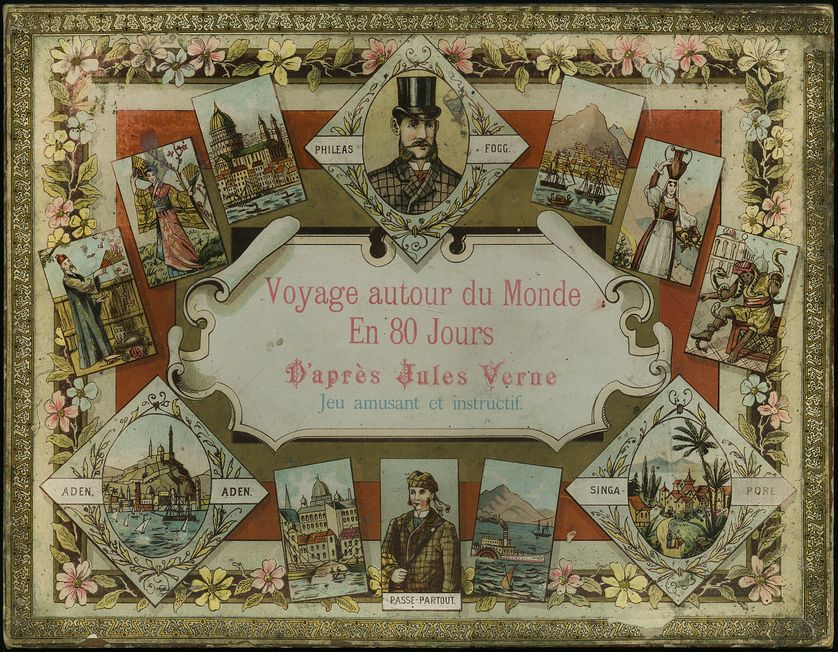 Voyage autour du monde en 80 jours. D'après Jules Verne. Jeu amusant et instructif.