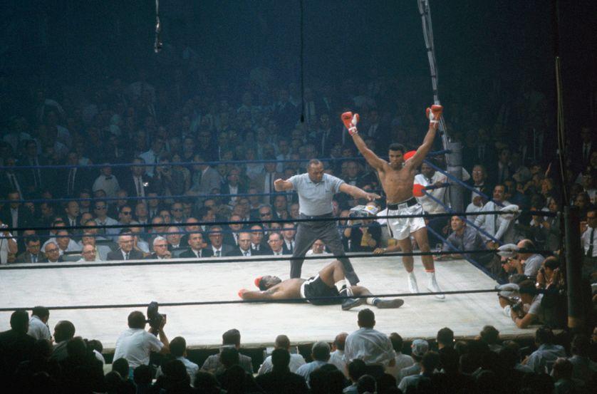 Mohamed Ali et Sonny Liston le 25 mai 1925.
