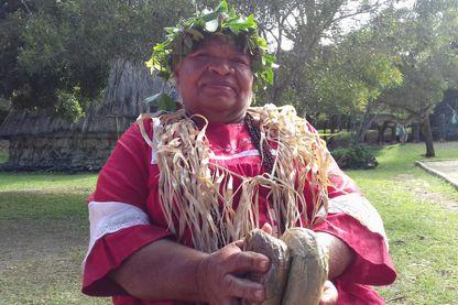 Une kanak originaire de l'île de Tiga (Nouvelle-Calédonie)