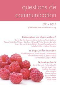 Questions de communication n°27 de 2015/1