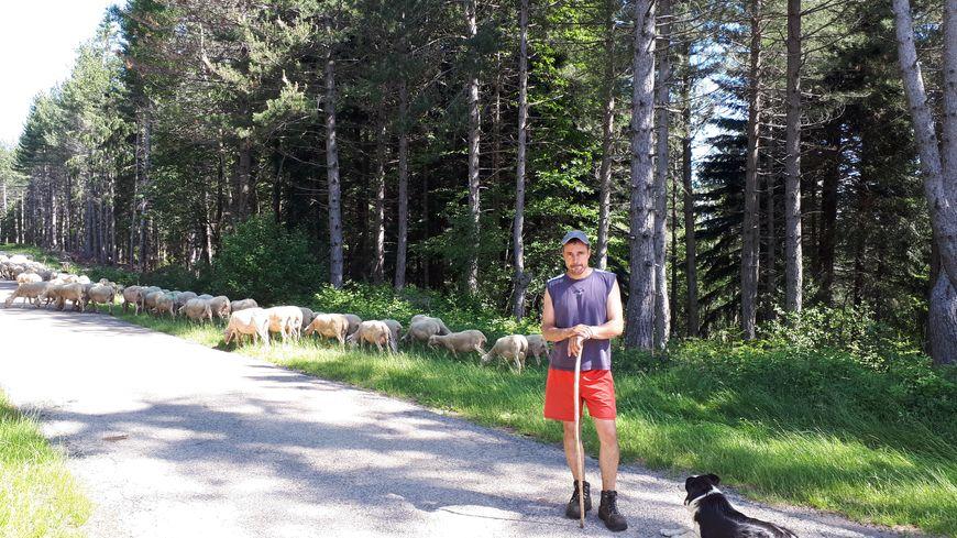 Olivier Maurin éleveur et coprésident de la Fédération nationale de défense du pastoralisme en route pour la transhumance