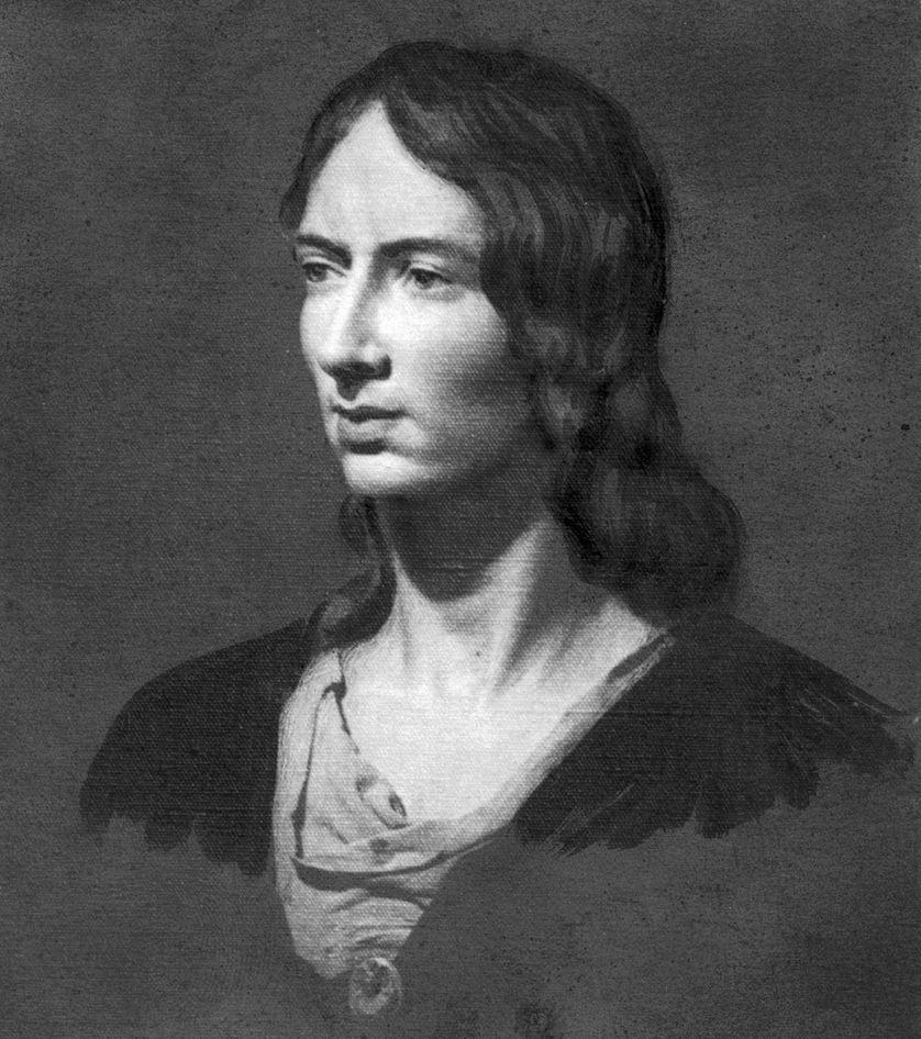 Portrait d'Emily Brontë (1818 - 1848)