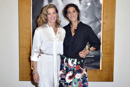 """L'actrice Marie Baumer et la réalisatrice Emily Atef à la première de """"Trois Jours A Quiberon"""" en juin 2018 à Paris"""