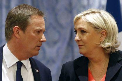Nicolas Dupont-Aignan et Marine Le Pen le 29 avril 2017