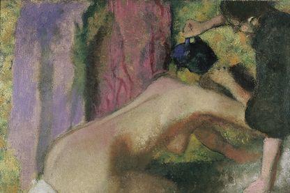 Femme au Bain, huile sur toile réalisée par Edgar Degas en 1895