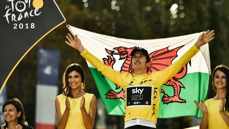 Le Gallois Geraint Thomas (Sky) remporte son premier Tour de France