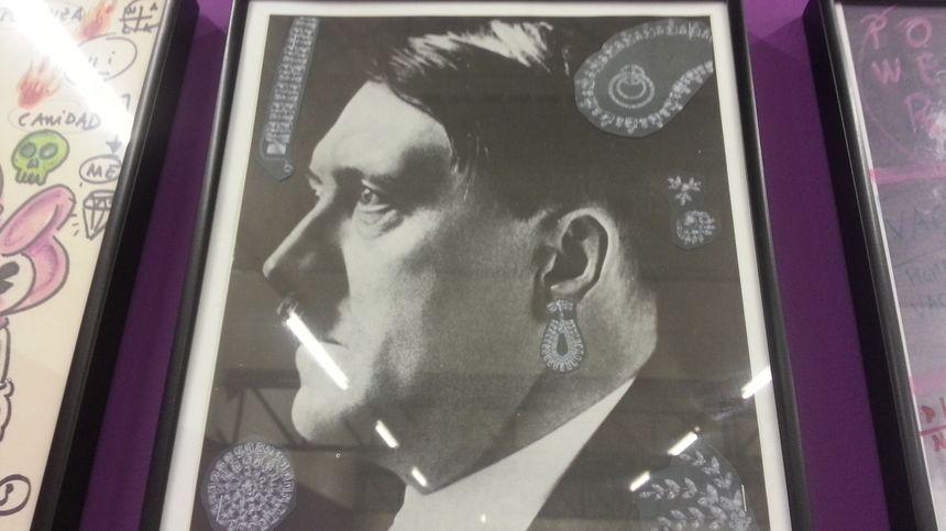Hitler, détourné par Roberta Marrero. Une oeuvre exposée au transpalette de Bourges.