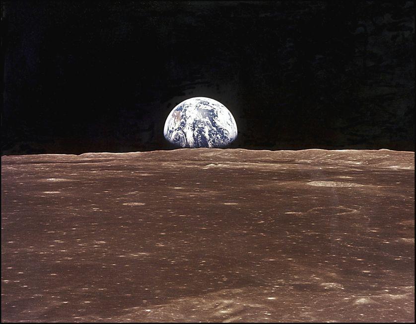 Vue de la terre depuis Apollo 11