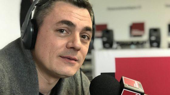 Le producteur Jean-Baptiste Urbain au micro