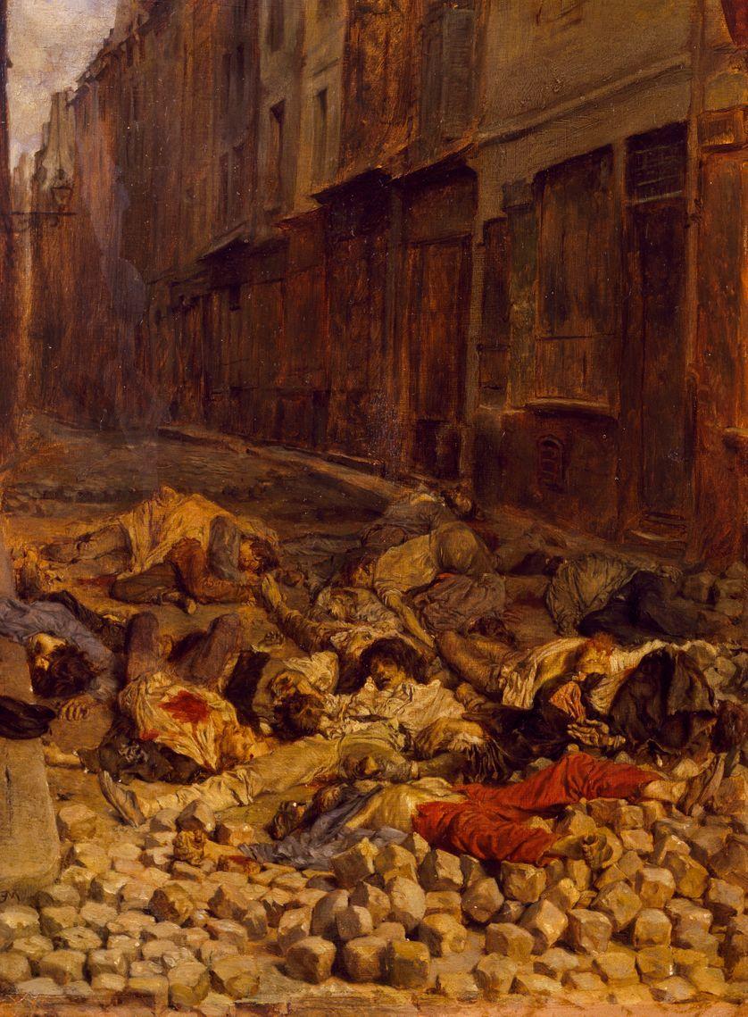 La barricade, par Ernest Meissonier (1815-1891)