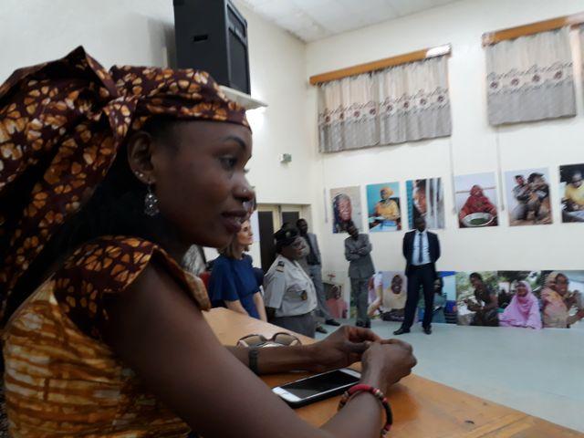 Hindou Oumarou Ibrahim, présidente de l'Association des femmes autochtones au lancement du livre « Les cent femmes du Tchad ».
