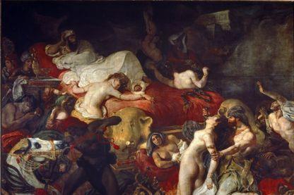 """""""Mort de Sardanapale"""" Peinture de Eugene Delacroix (1798-1863), 1827 ; Huile sur toile ; Paris, Musée Du Louvre"""