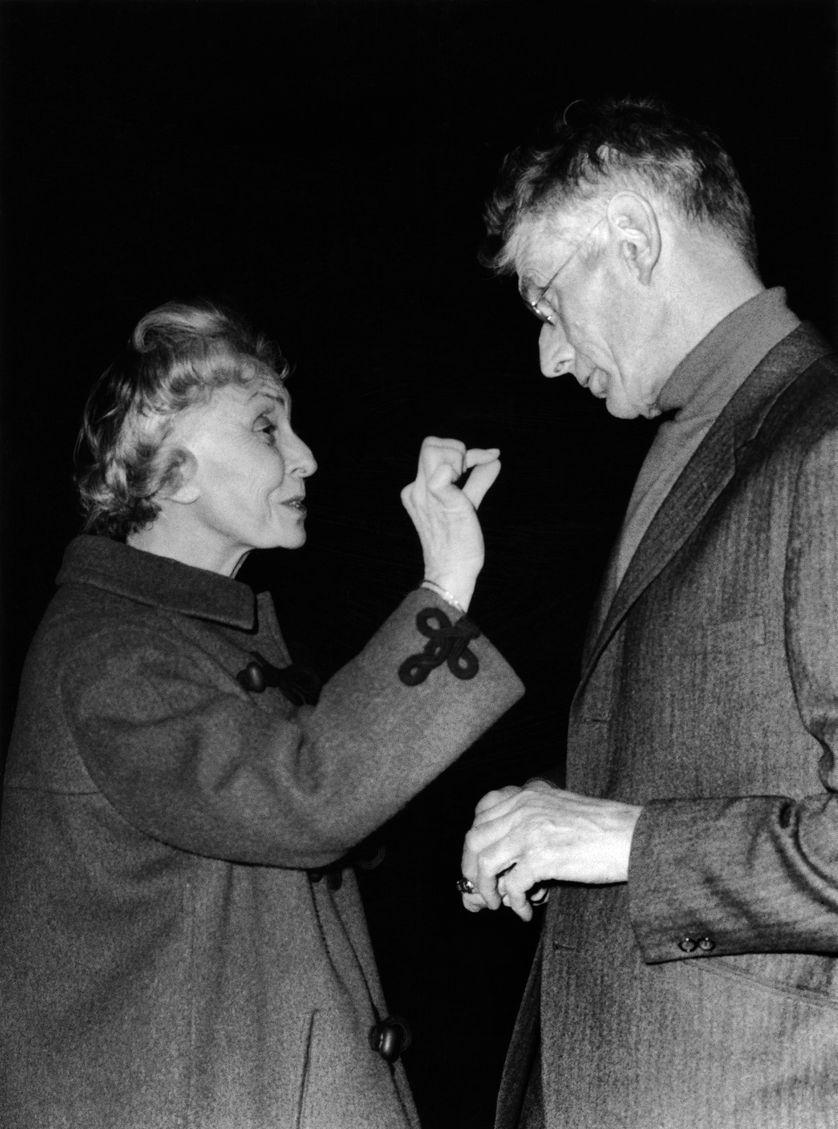 Madeleine Renaud et Samuel Beckett au Théâtre de l'Odéon (1966)